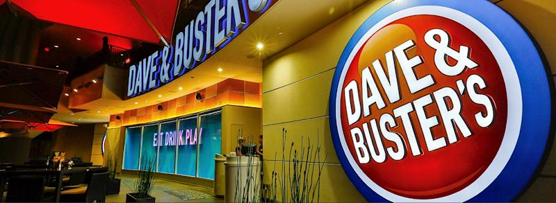 A Dave & Buster's sign.