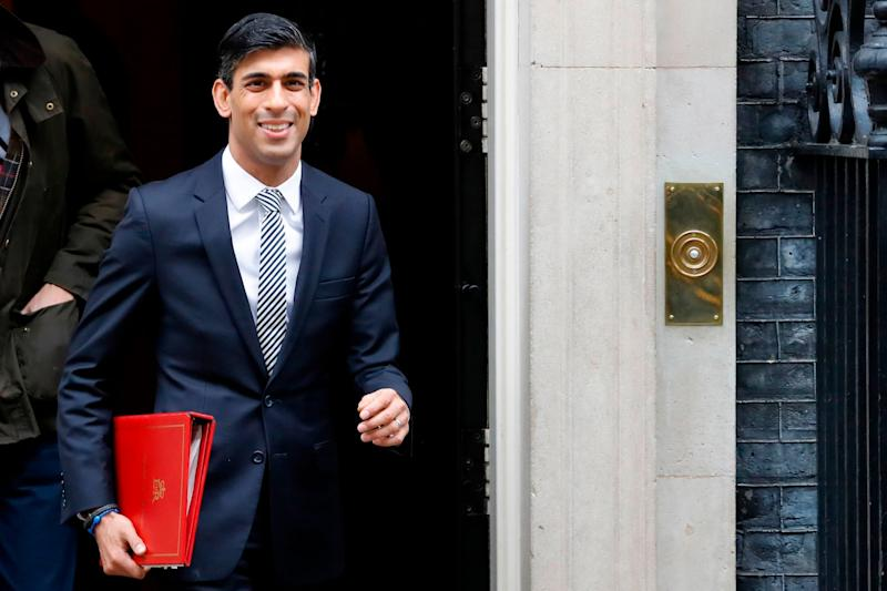 Britain's Chancellor of the Exchequer Rishi Sunak leaves after the first meeting of the cabinet the day after a reshuffle: AFP via Getty Images