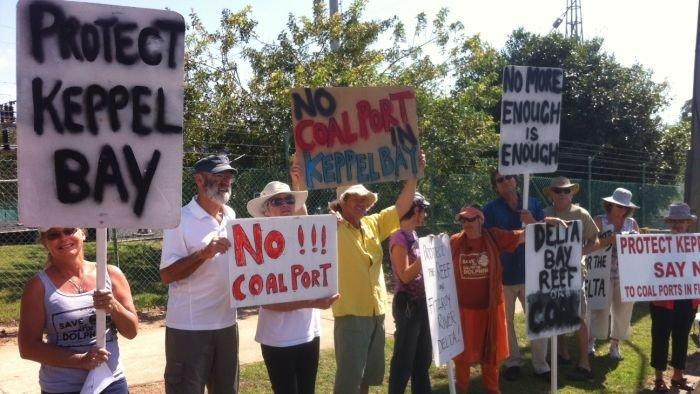Anti-coal protesters face Seeney
