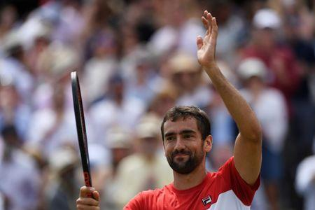 Tennis - ATP 500 - Fever-Tree Championships - The Queen's Club, London, Britain - June 23, 2018 Croatia's Marin Cilic celebrates winning his semi final match against Australia's Nick Kyrgios Action Images via Reuters/Tony O'Brien