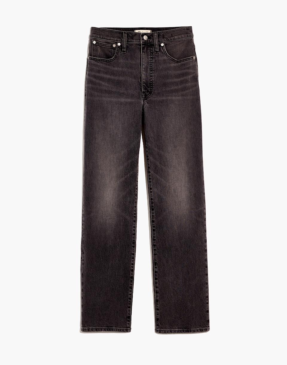 The Perfect Vintage Straight Jean in Cosner Wash. Image via Madewell.