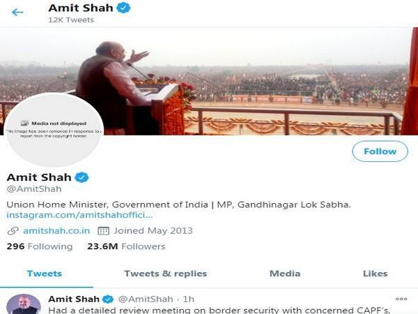 The display picture (DP) of Union Home Minister Amit Shah's personal account.
