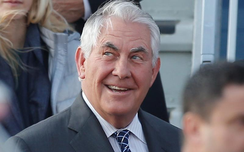 Rex Tillerson arrives at Vnukovo International Airport in Moscow - Credit: REUTERS