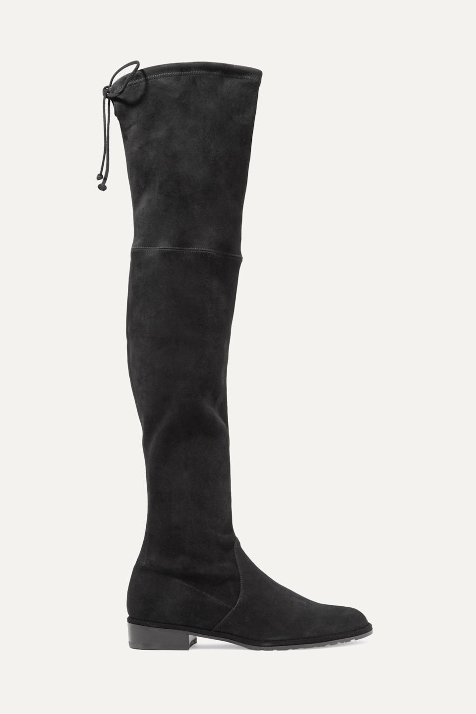 """<p><strong>Stuart Weitzman</strong></p><p><strong>$473.81</strong></p><p><a href=""""https://www.amazon.com/Stuart-Weitzman-Womens-Lowland-Medium/dp/B005A9XFJY/?tag=syn-yahoo-20&ascsubtag=%5Bartid%7C10067.g.28225508%5Bsrc%7Cyahoo-us"""" rel=""""nofollow noopener"""" target=""""_blank"""" data-ylk=""""slk:Shop Now"""" class=""""link rapid-noclick-resp"""">Shop Now</a></p><p>Stuart Weitzman is justifiably famous for his over the knee boots, and this fall is the ideal time to finally invest in a pair. You'll wear them everywhere. </p>"""