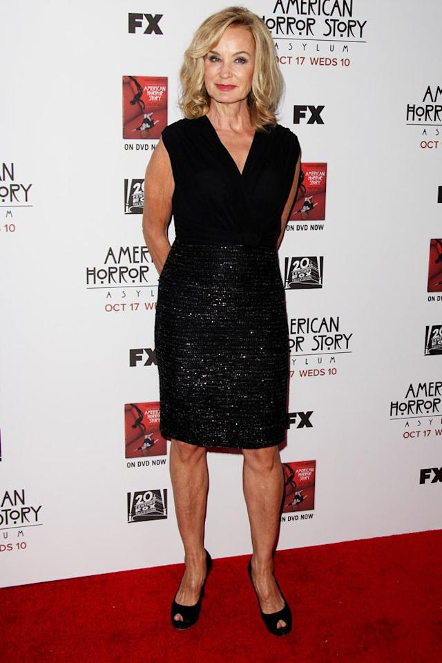 """Jessica Lange attends the """"American Horror Story: Asylum"""" premiere held at Paramount Studios on October 13, 2012 in Hollywood, California."""