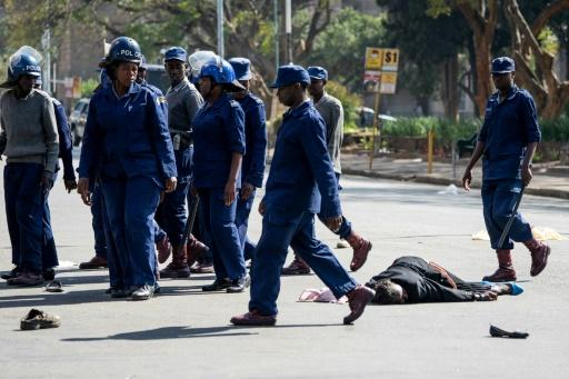Police violently dispersed protesters in Harare who defied a ban on demonstrations on Friday.�