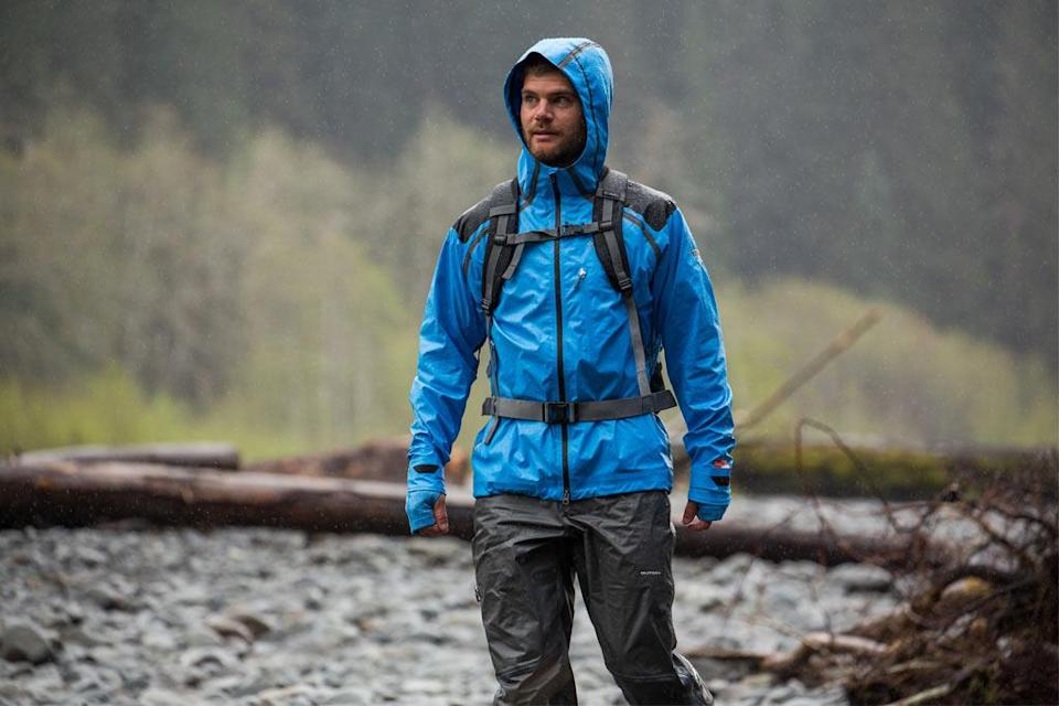 """A Columbia jacket being """"Tested Tough"""" in the wilderness. - Credit: Courtesy of brand."""