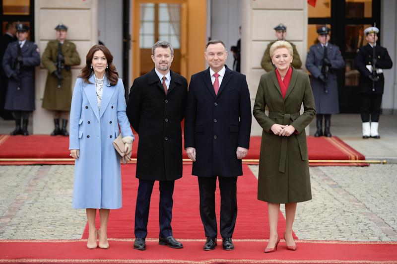 Princess Mary and Prince Frederik in Poland