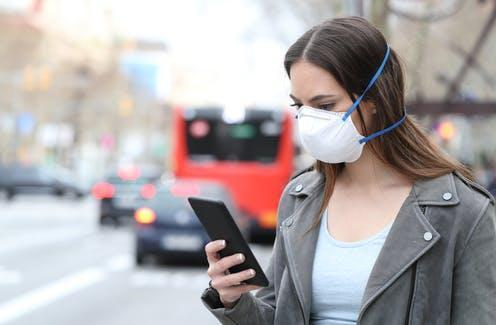 """<span class=""""attribution""""><a class=""""link rapid-noclick-resp"""" href=""""https://www.shutterstock.com/image-photo/woman-protective-mask-avoiding-pollution-using-1667344543"""" rel=""""nofollow noopener"""" target=""""_blank"""" data-ylk=""""slk:Antonio Guillem/Shutterstock"""">Antonio Guillem/Shutterstock</a></span>"""