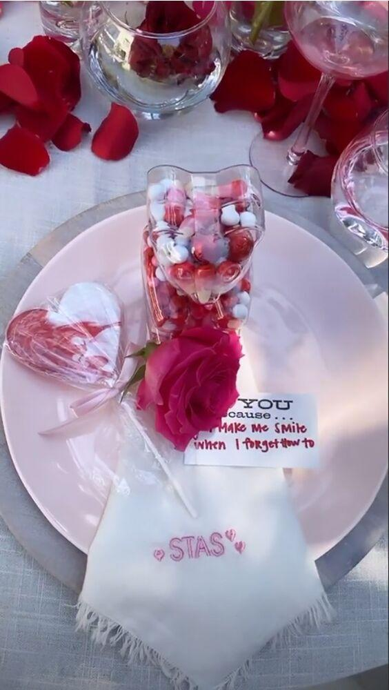 Kylie Jenner's Valentine's Day lunch | Kylie Jenner/Instagram