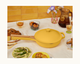 """<a href=""""https://www.glamour.com/story/our-place-always-pan-review?mbid=synd_yahoo_rss"""" rel=""""nofollow noopener"""" target=""""_blank"""" data-ylk=""""slk:This multipurpose pan"""" class=""""link rapid-noclick-resp"""">This multipurpose pan</a> does it all: braising, searing, straining, steaming, sautéing, boiling, frying, and storing. <em>Whew</em>. It's the perfect gift for the homebody who's always up on trendy recipes and wants a piece of MVP <a href=""""http://glamour.com/gallery/best-cookware-sets"""" rel=""""nofollow noopener"""" target=""""_blank"""" data-ylk=""""slk:cookware"""" class=""""link rapid-noclick-resp"""">cookware</a>. $145, Our Place. <a href=""""https://fromourplace.com/products/always-essential-cooking-pan"""" rel=""""nofollow noopener"""" target=""""_blank"""" data-ylk=""""slk:Get it now!"""" class=""""link rapid-noclick-resp"""">Get it now!</a>"""
