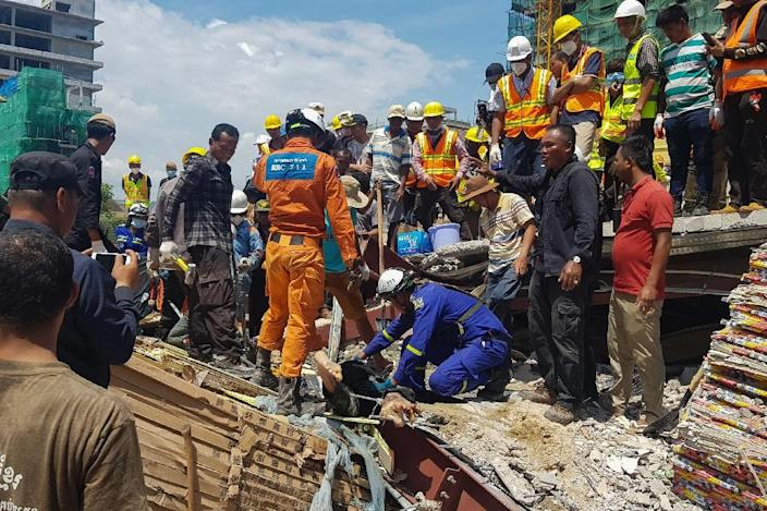 Preah Sihanouk provincial authorities said 18 people had died in the accident, with 24 injured (AFP Photo/Den AYUTHYEA)