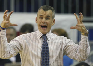 Florida's Billy Donovan reacts to a call during a game against Auburn. (USAT)