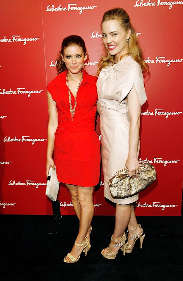 "Kate Mara (""Shooter"") sported a fun cherry red shirtdress, while Melissa George (""30 Days of Night"") opted for a boxy beige mess. Donato Sardella/<a href=""http://www.wireimage.com"" target=""new"">WireImage.com</a> - June 2, 2009"