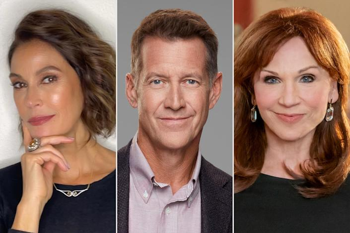"""<p><strong>Premieres: </strong>Nov. 21 at 8 p.m. ET/PT, Hallmark Channel</p> <p><strong>Stars: </strong>James Denton, Teri Hatcher, Marilu Henner</p> <p><strong>Contains: </strong><em>Desperate Housewives</em> mini-reunion, wish gone awry</p> <p><strong>Official description: """"</strong>When nice-guy Ethan casually wishes his life had taken a different course, he wakes up the next day to find nothing is the same – he's not married to his wife Joyce, he doesn't have two teenaged kids and he's CEO of his company. If he wants to reclaim his original life and the family he loves, he must convince Joyce he's telling the truth and win her over… and he only has until Christmas Day.""""</p>"""