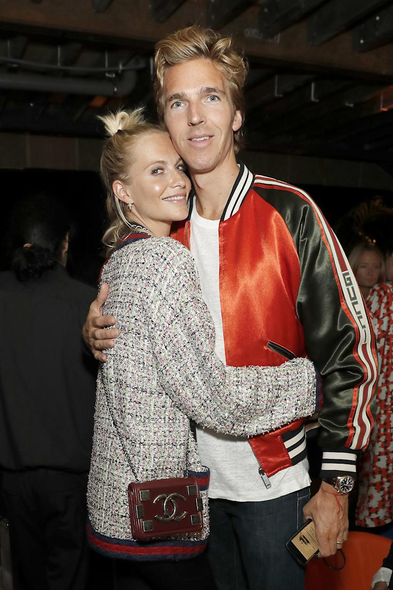Poppy Delevingne and James Cook attend Shadowman Richard Hambleton Private View and After Party on September 12, 2018, in London, England.