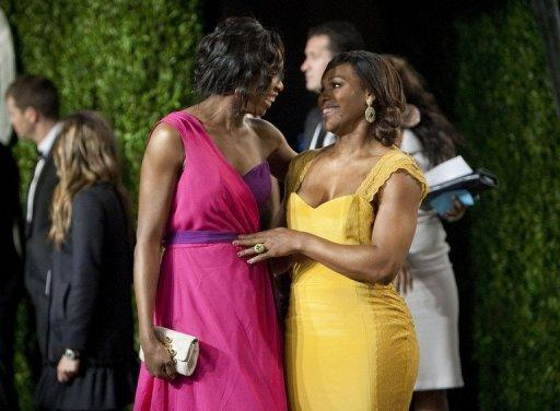 Sisters Venus (L) and Serena Williams arrive at the Vanity Fair Oscar Party in California in February 2012. Former Wimbledon champion Serena has hit back at suggestions that she and Venus could be ready to retire from tennis