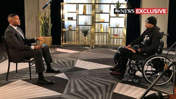 PHOTO: Jacob Blake, who was shot seven times by a Wisconsin police officer, sat down with 'Good Morning America' co-anchor Michael Strahan for an exclusive interview. (ABC News)