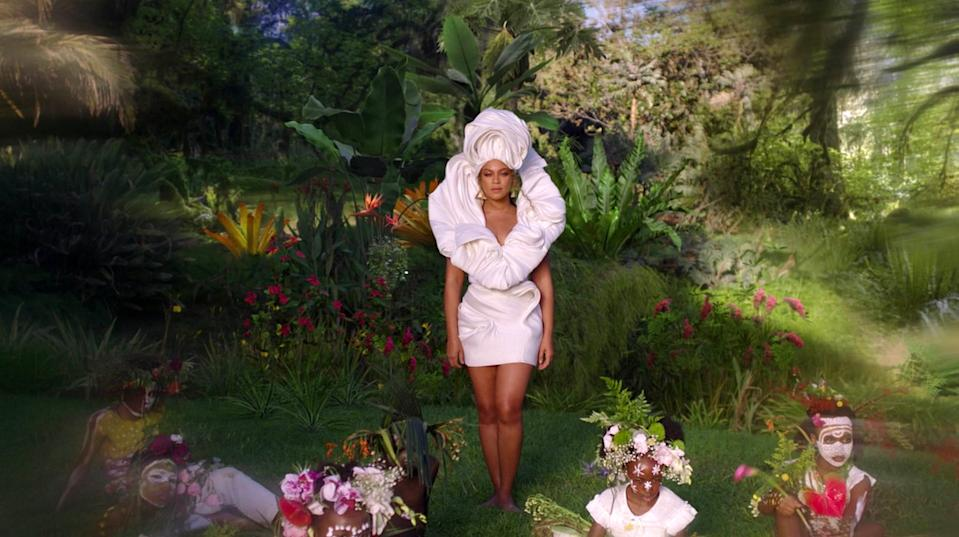 beyonce white outfit black is king