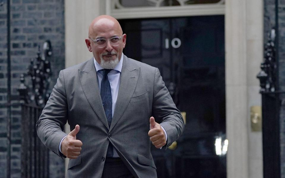 Nadhim Zahawi leaving 10 Downing Street, London, after being named as the new Education Secretary - Victoria Jones/PA