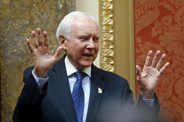 Sen. Orrin Hatch, R-Utah, has reportedly been preparing federal legislation to enact legalized sports gambling. (AP Photo/Rick Bowmer, File)