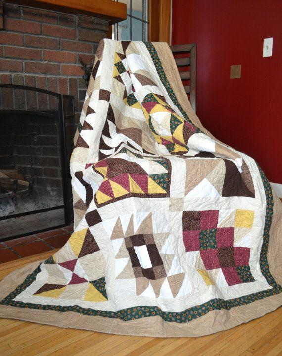 """A handmade quilt is a great way to add extra warmth to your bed in the cooler months, or is the perfect throw blanket to pull out on movie night at home. <a href=""""https://www.etsy.com/listing/398711053/forest-hike-classic-hand-quilted-twin"""" target=""""_blank"""">Shop it here</a>."""