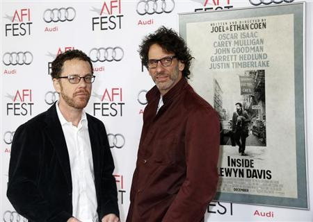 """Directors Joel (R) and Ethan Coen arrive for the screening of their new film """"Inside Llewyn Davis"""" on the closing night of the American Film Institute (AFI) Fest in Hollywood, California November 14, 2013. REUTERS/Fred Prouser"""
