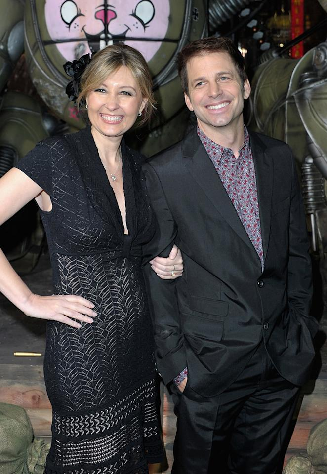 """<a href=""""http://movies.yahoo.com/movie/contributor/1809234646"""">Deborah Snyder</a> and Zack Synder at the Los Angeles premiere of <a href=""""http://movies.yahoo.com/movie/1810133258/info"""">Sucker Punch</a> on March 23, 2011."""