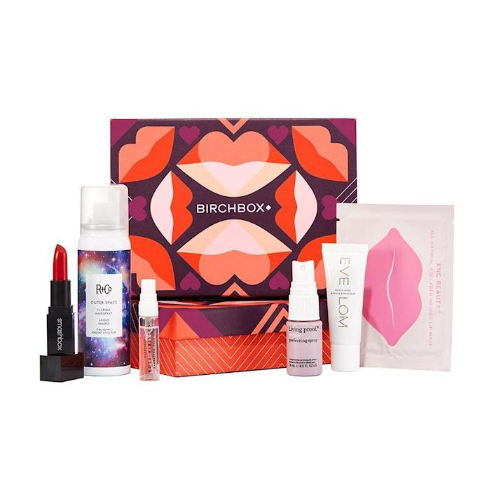 """<p><strong>Birchbox</strong></p><p>birchbox.com</p><p><strong>$15.00</strong></p><p><a href=""""https://go.redirectingat.com?id=74968X1596630&url=https%3A%2F%2Fwww.birchbox.com%2Fsubscribe%2Fwomen&sref=https%3A%2F%2Fwww.bestproducts.com%2Fbeauty%2Fg256%2Fchristmas-holiday-beauty-gifts%2F"""" rel=""""nofollow noopener"""" target=""""_blank"""" data-ylk=""""slk:Shop Now"""" class=""""link rapid-noclick-resp"""">Shop Now</a></p><p>Arguably one of the most popular — and definitely among the most coveted — subscription boxes out there, Birchbox sends a selection of trial-sized beauty and grooming goodies each month so that giftees can test their preferred products before the bigger buy.<br></p><p>Each box features five trial-sized products tailored to their interests, including samples from cult classics and emerging brands. </p>"""
