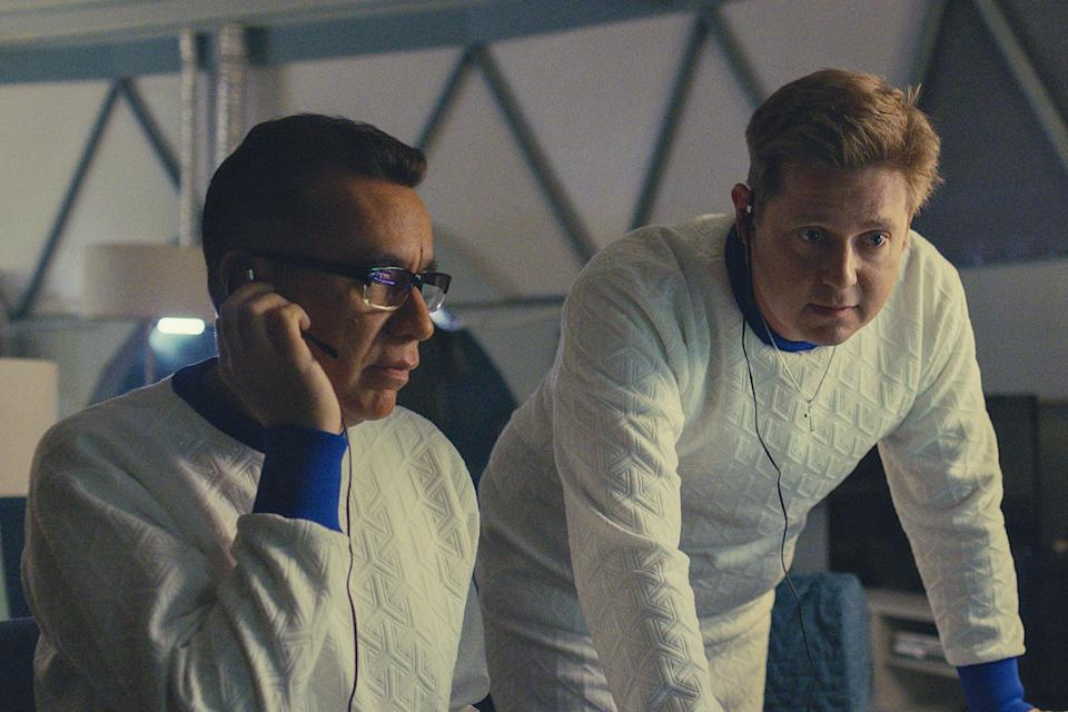 Fred Armisen, left, and Tim Heidecker play would-be astronauts who aren't quite terrible but fall well short of competent in the Showtime comedy, 'Moonbase 8.'