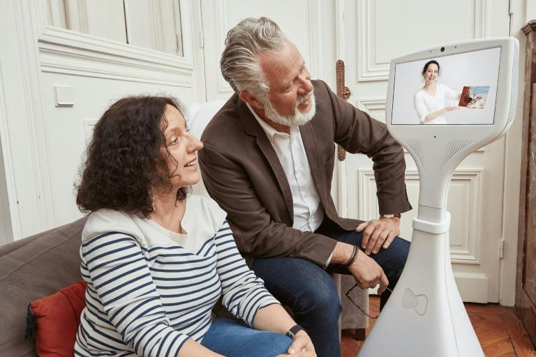 Companions robots such as this one from the French startup Cutii have been helping seniors increasingly isolated during the Covid-19 pandemic
