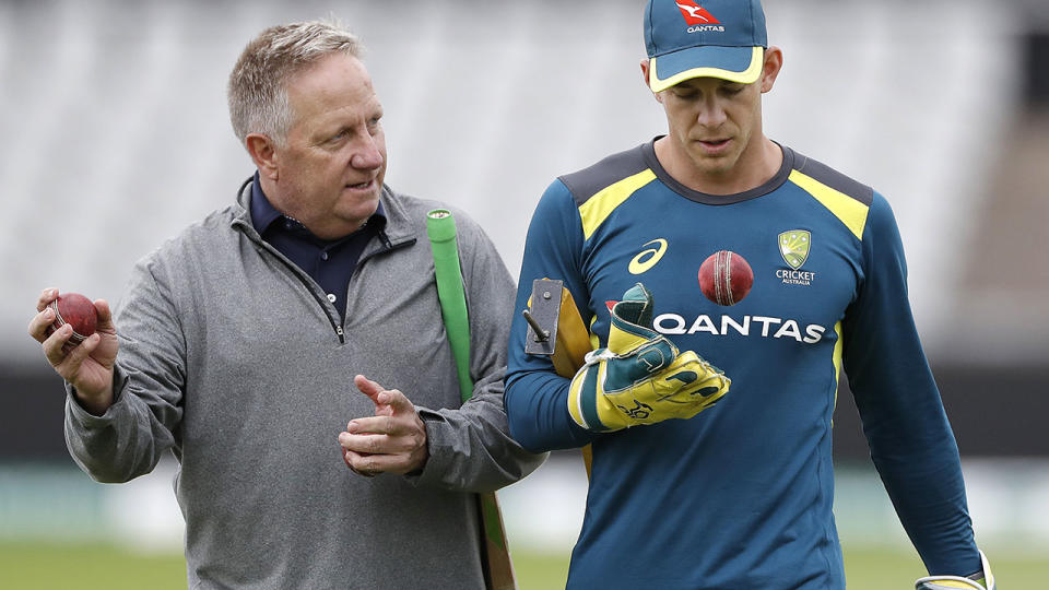 Ian Healy and Tim Paine, pictured here in Manchester during the fourth Ashes Test.