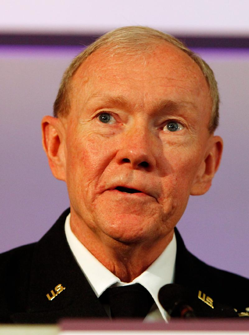 Gen. Martin Dempsey, the current U.S. Army chief of staff, speaks at a Land Warfare conference at the Royal United Services Institute in London Wednesday, June, 1, 2011. The man picked to be President Barack Obama's top military adviser said Wednesday that the United States does not yet understand the long-term implications of Osama bin Laden's death. (AP Photo/Alastair Grant)