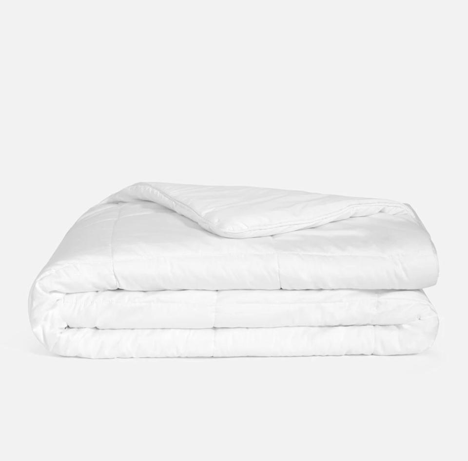 """Since it's not <i>technically</i> a blanket, we're saying that this comforter is a bonus. From bedding brand <a href=""""https://fave.co/2xq00k5"""" target=""""_blank"""" rel=""""noopener noreferrer"""">Brooklinen</a>, this weighted comforter is now 15% off sitewide during a flash sale. It's the right time to splurge (and save a little) on this comforter, which features a cotton shell and quilted interior layer. <a href=""""https://fave.co/3aojl6l"""" target=""""_blank"""" rel=""""noopener noreferrer"""">Originally starting at $249, get it now for 15% off</a>."""