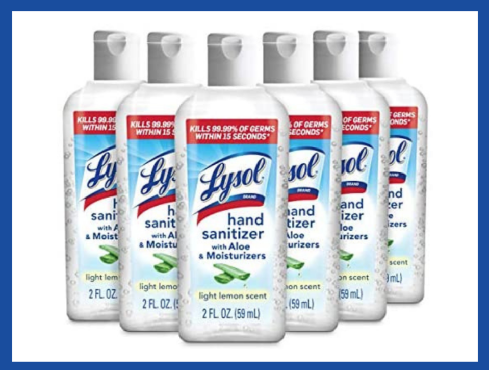 Lysol Hand Sanitizer, 2-ounce (6-pack). (Photo: Amazon)