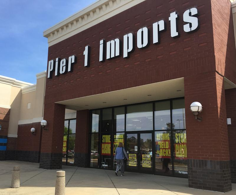 Pier 1 Imports plans to close up to 450 stores.