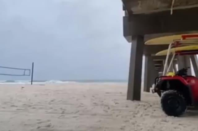 'Stay safe': Sheltering Florida lifeguards get close-up view of lightning