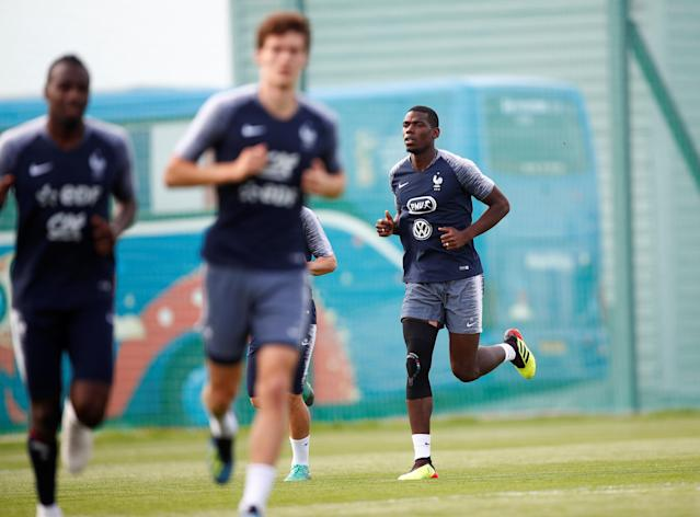 Soccer Football - World Cup - France Training - France Training Camp, Moscow, Russia - June 23, 2018 France's Paul Pogba during training REUTERS/Axel Schmidt