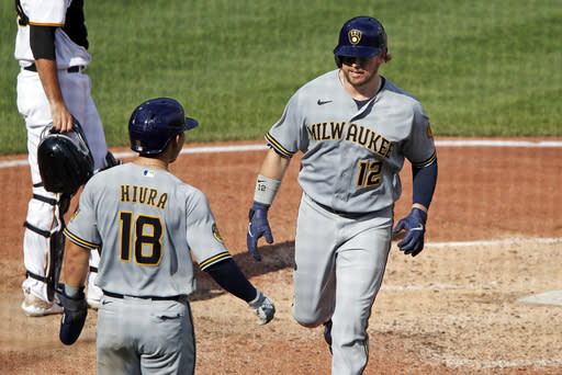 Polanco's home run lifts Pirates to sweep of Brewers
