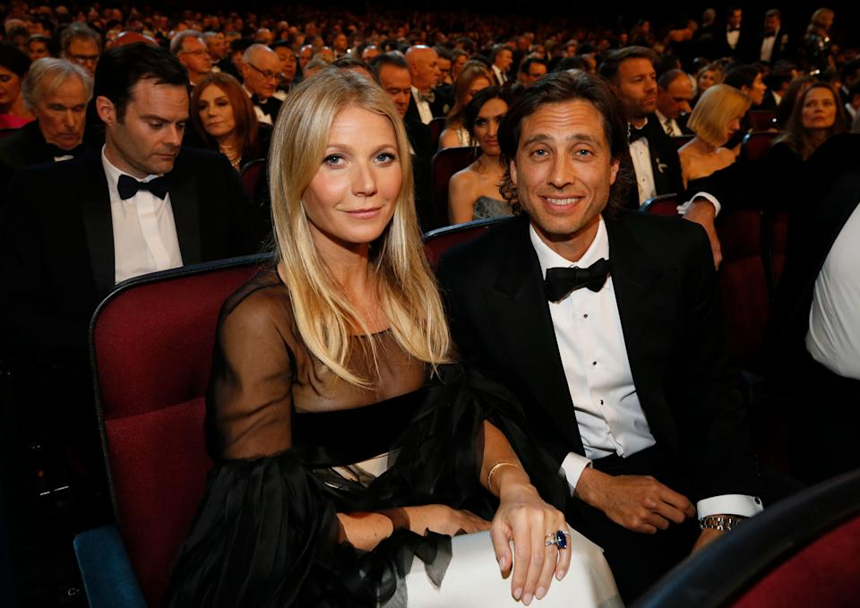 Gwyneth Paltrow with her husband Brad Falchuk (Photo: Danny Moloshok/Invision/AP)