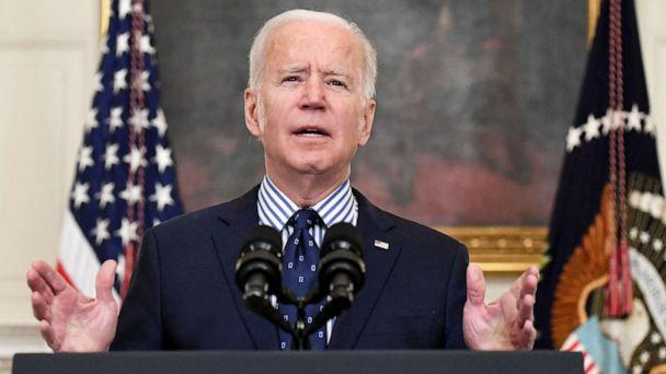 PHOTO: President Joe Biden speaks on the passage of the American Rescue Plan in the State Dining Room of the White House, March 6, 2021. (Saul Loeb/AFP via Getty Images)