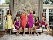 """<p>""""We actually start discussing what the potential tagline could be for each of the various 'wives pretty much at the beginning of the season, and we kick around ideas all season long, because they want their tagline to be unique and special and ones that really stand out from the pack,"""" producer Doug Ross told <a href=""""https://www.eonline.com/news/781424/real-housewives-boss-reveals-the-truth-about-those-infamous-taglines"""" rel=""""nofollow noopener"""" target=""""_blank"""" data-ylk=""""slk:E News"""" class=""""link rapid-noclick-resp""""><em>E News</em></a>. The women get some say, record three to six, and producers see which one sticks.</p>"""