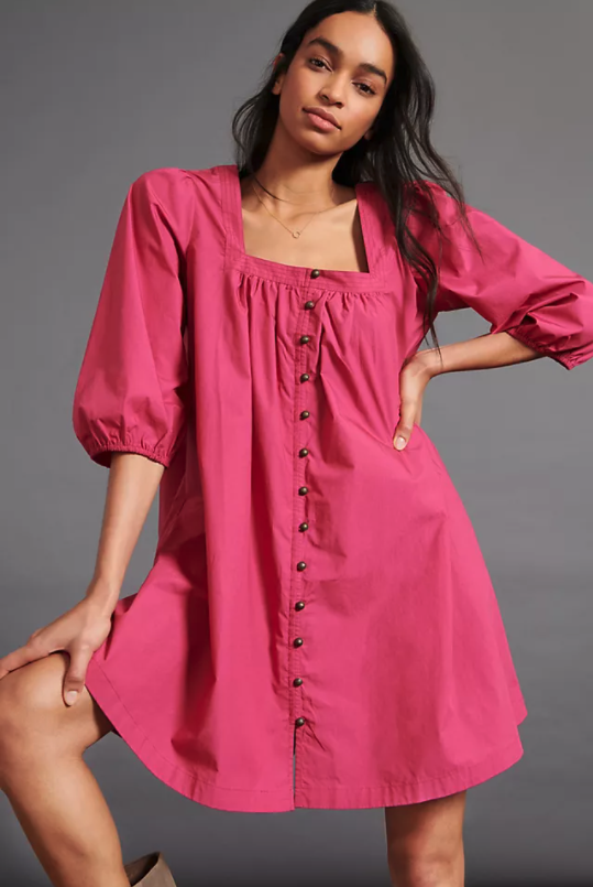 Maeve Tabitha Swing Tunic Dress. Image via Anthropologie.