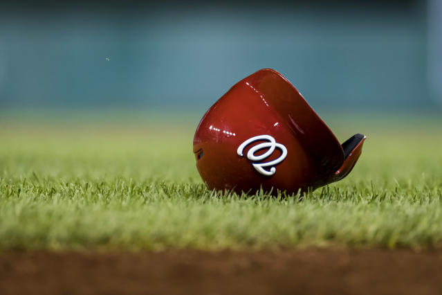 """A traffic accident claimed the life of a <a class=""""link rapid-noclick-resp"""" href=""""/mlb/teams/washington/"""" data-ylk=""""slk:Nationals"""">Nationals</a> minor leaguer on Sunday. (Photo by Scott Taetsch/Getty Images)"""