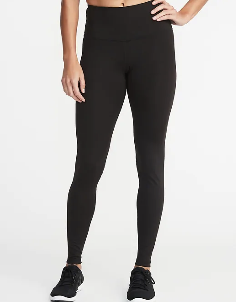"""It's rare to find a legging with a near perfect five-star rating, but Old Navy's compression pair is pretty much up there. Tall women are particularly fans since the compression runs through the entirety of the legging. $29, Old Navy. <a href=""""https://oldnavy.gap.com/browse/product.do?pid=711861#pdp-page-content"""" rel=""""nofollow noopener"""" target=""""_blank"""" data-ylk=""""slk:Get it now!"""" class=""""link rapid-noclick-resp"""">Get it now!</a>"""