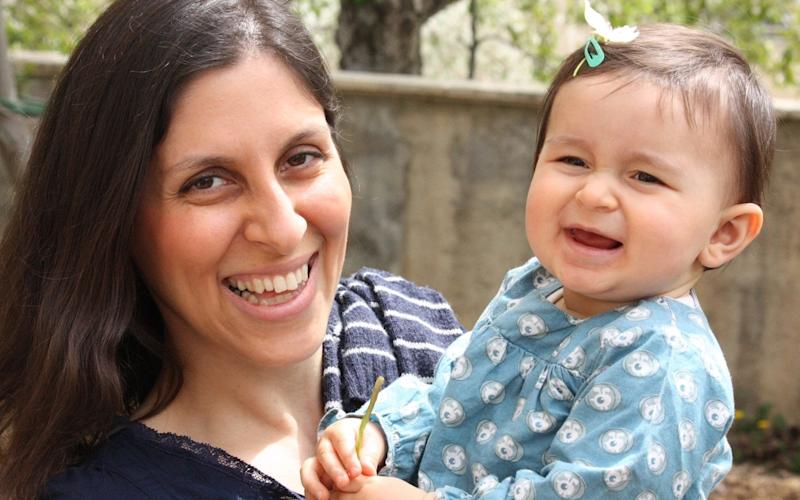 <strong>Nazanin Zaghari-Ratcliffe, seen here with her daughter Gabriella, has been imprisoned in Iran since 2016</strong>