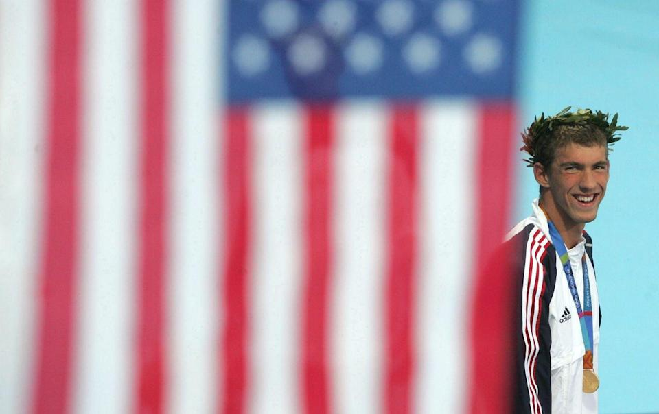 <p>Phelps was a standout star for the United States at the 2004 Summer Olympics. The swimmer took home eight Olympic medals total — six gold and two bronze. The athlete tied Soviet gymnast, Aleksandr Dityatin, for the most medals ever won by a competitor at a single Olympic Games.</p>