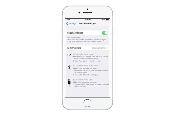 how to use airdrop personal hot spot toggle