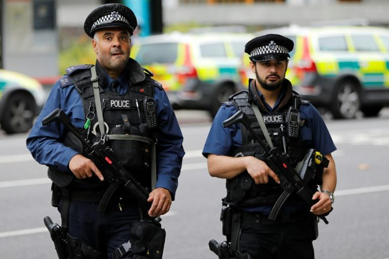 Armed police officers were deployed to the scene of the incident near the Natural History Museum in London