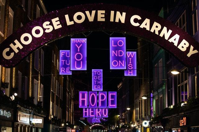 The Carnaby Christmas installation